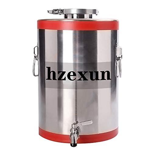 hzexun 304 Barril de Aceite de Acero inoxidable Con Grifo Alimento De Cañón De Vino Tanque De Almacenamiento De Tanques Sellados Hervidor De Vino De La Fermentación Del Tanque (10L)
