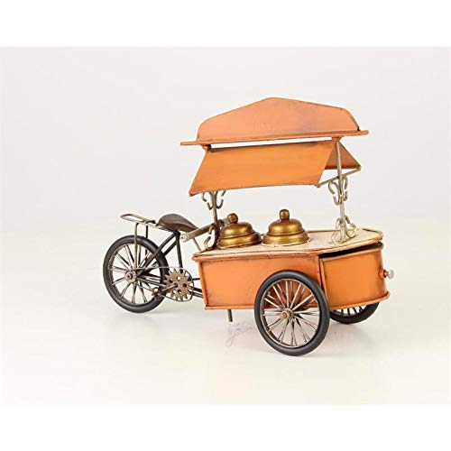 Moritz Eisverkäufer Eiscream Fahrrad Eismann Oldtimer Modell Metall Zinn Dekoration Ice Cream Orange