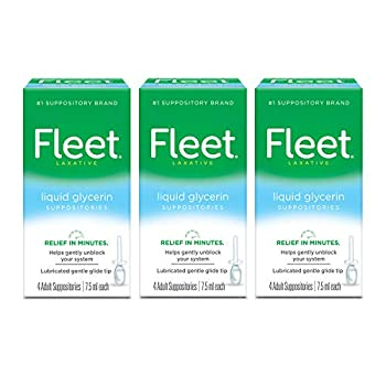 Fleet Liquid Glycerin Suppositories for Adult Constipation 4 Suppositories Pack of 3