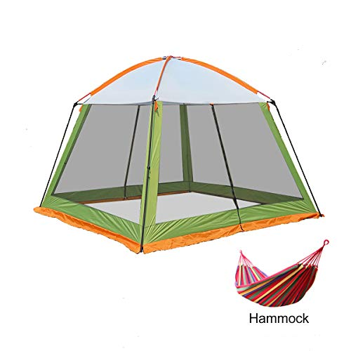 3x3m Camping Gazebos 5-8 persone,Heavy Duty Gazebo Garden Pavilion Party Tent Event Shelter, Waterproof Canopy Lightweight,Hiking and Barbecue,Green