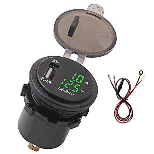 Okuyonic Affidabile antiusura 23,6 Pollici Anti-corrosione Display Digitale per Auto Voltaggio Robusto Caricatore rapido Impermeabile per Il Tuo Veicolo per(Green, DC12~24V)
