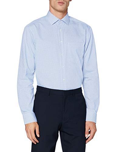 Seidensticker Herren Business Hemd Regular Fit Businesshemd, Blau (Hellblau 12), (Herstellergröße: 38)