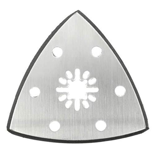 N / A Vibración de la Herramienta colchón de rectificado, oscilante Multitool 90mm Seis Agujeros de Acero Inoxidable Triangular Arena Disco Hoja de Sierra