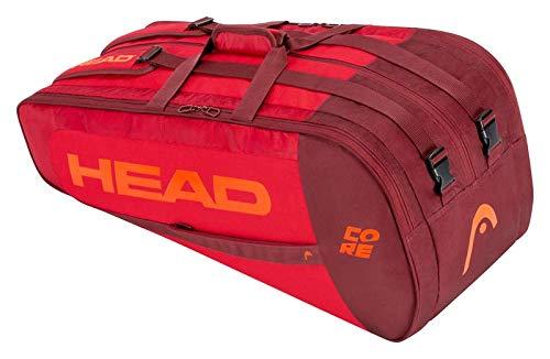 Head Bolsa para Raqueta Unisex Core Supercombi, Rojo/Rojo, Talla única