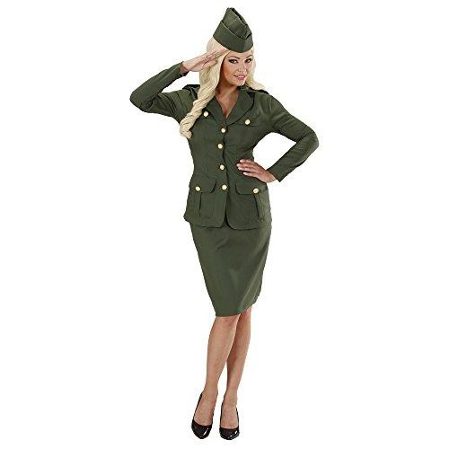 WIDMANN Video Delta Señoras WW2 Soldado Chica Disfraz Medio Reino Unido 10-12 de Guerra Militar del Vestido