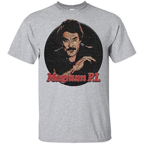 Cool Magnum PI Movie Film T-Shirt 80s 90s Tumblr Tv Comedy T-Shirt Sport Grey