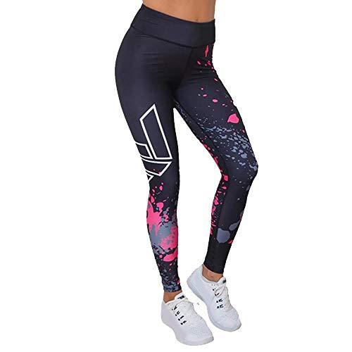 VJGOAL Moda Casual para Mujer Leggings Gimnasio Deportes Gimnasio Correr Pilates Pantalones de Yoga Alta Elasticidad Pantalones de chándal Transpirables