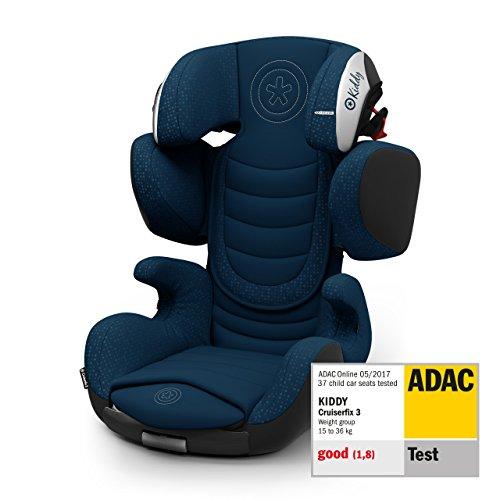 Kiddy Cruiserfix 3 | Autokindersitz (Gruppe 2/3) (ca. 3 Jahre bis 12 Jahre) (ca. 15kg - 36kg) mit Isofix | Kollektion 2019 | Indiego Blue