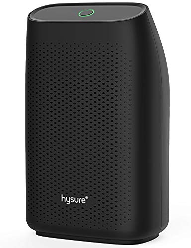 hysure Mini Dehumidifier 700ml Water Tank 215 sq.ft for Bathroom/Bedroom/RV/Dorm/Kitchen/Closet, Ultra Quiet Compact Dehumidifier