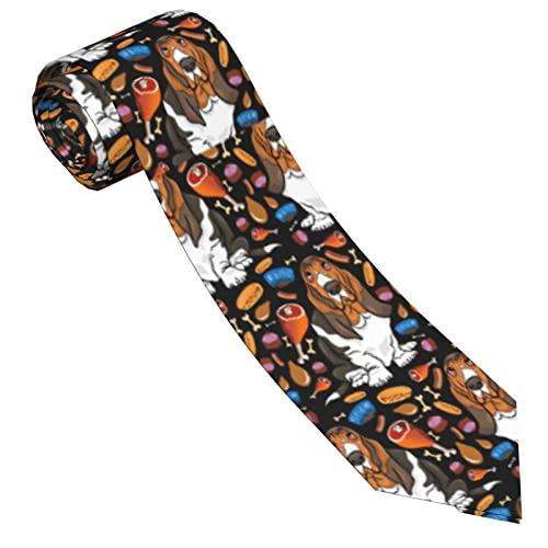 Corbatas de Hombre, Corbatas de Moda de Novedad para Hombres Corbata Delgada para Caballeros, Lazos de Moda para Negocios Formales Informales (Perro de caza)-8x145cm
