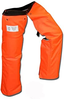 Forester Chainsaw Chaps Zipper Style Orange Short