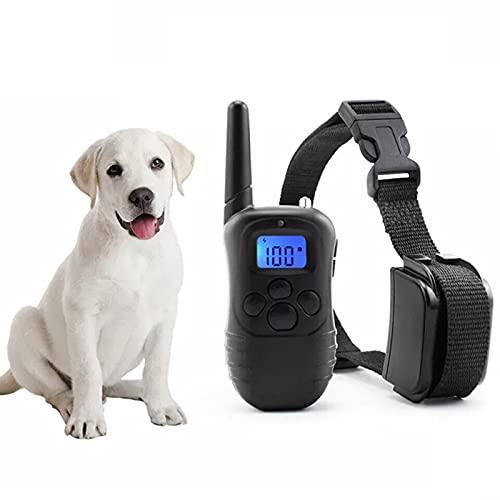 Hundetrainingshalsband, Bellenhalsbänder, wiederaufladbares wasserdichtes Hundetrainingsgerät für Hunde Sicheres Verhalten korrekt mit statischer Elektrizität/Vibration/Ton/Blitzmodus