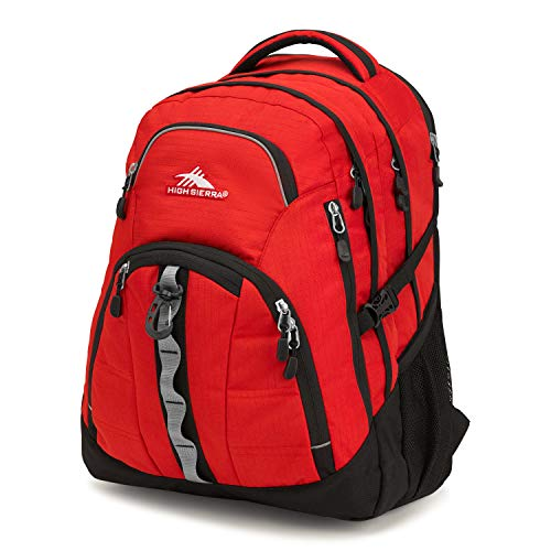 High Sierra Access 2.0 Laptop Backpack, Crimson/Black, One Size