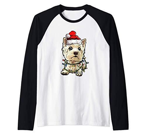 West Highland Terrier Navidad Regalo X-Mas Amor De Perro Camiseta Manga Raglan