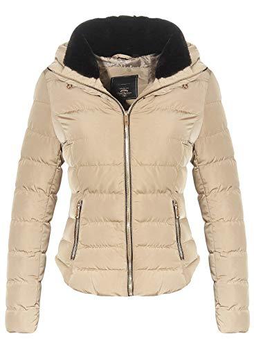 malito dames gewatteerde jas | gevoerde winterjas | Blouson met capuchon - korte jas JF1831B