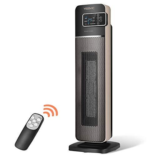 YISSVIC Termoventilatore Ceramico 2000W, Display LED e Telecomando, Oscillazione 90°, Temperatura Smart...