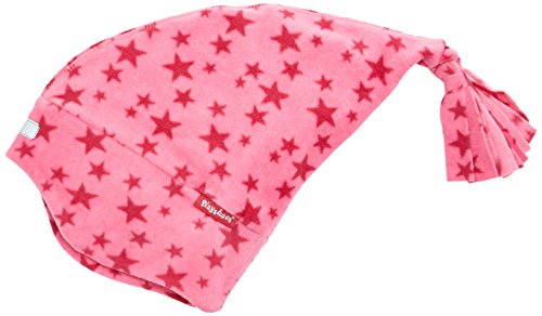 Playshoes Mädchen Mütze Fleece-Zipfelmütze Sterne, Rosa (Pink 18), 49