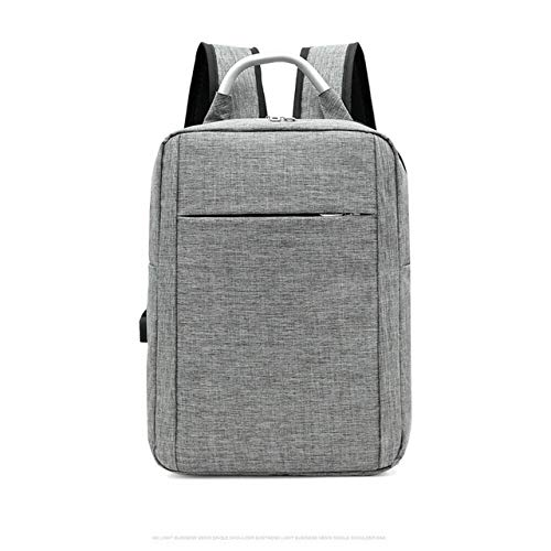 WPOS Oxford Ultraleichte Schultasche Multifunktionales Büro Männer und Frauen USB-Ladesack Laptop Notebook Reiseschule Business-Tasche, Grau