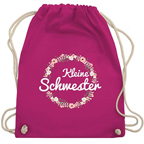 Shirtracer Geschwisterliebe Kind - Kleine Schwester Blumenkranz - Unisize - Fuchsia - witzige geschenke - WM110 - Turnbeutel und Stoffbeutel aus Baumwolle