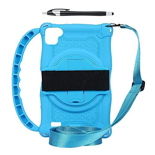 Gesh Funda de silicona para tablet Teclast P80, P80X, P80H, 8 pulgadas, anticaídas, con asa y correa, color azul claro
