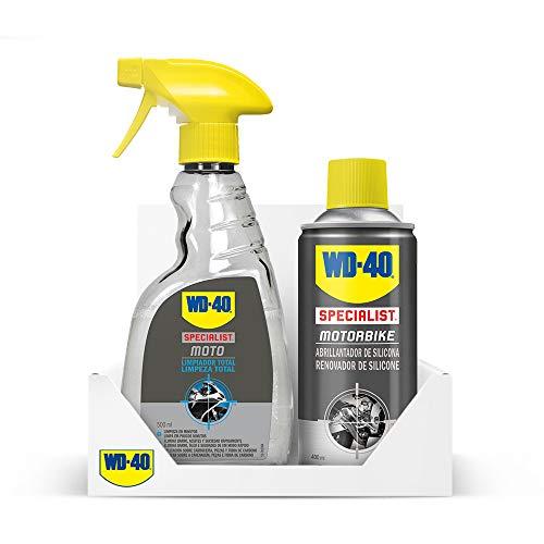 WD-40 Specialist Motorbike – Lote para moto limpia y brillante con Limpiador Total 500Ml + Abrillantador de Silicona 400Ml - Pack 2 unidades