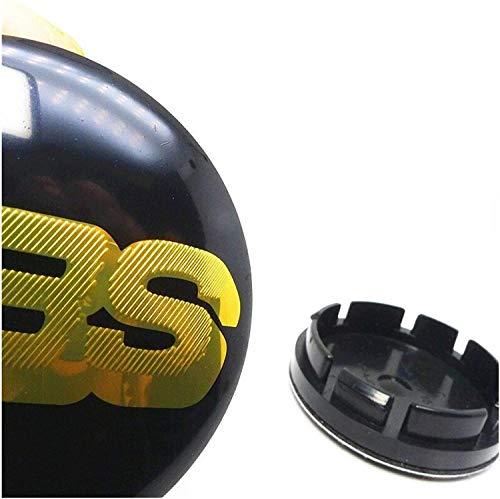 4 Piezas Tapas centrales Plastico Aleación Logo Insignia Coche, para BBS 16 inch Golf MK3 Tires Tapacubos Pegatinas