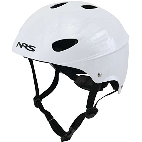 NRS Havoc Adult Livery Whitewater Kayak Rafting Safety Water Sport Helmet, One Size Fits Most, White