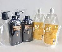 日本製!パーマ・カラー 前処理剤 傷んだ部分に!「インケアPPTサポート」ケラチンPPT&コラーゲンPPT配合600mL ポンプ付き +中間処理剤「バッファー トリートメント」400mL 残留アルカリ除去し髪・頭皮を弱酸性に!各2個 計4個セット(理美容室プロ用)