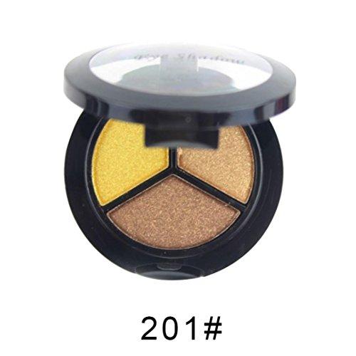 Coloré(TM) Palettes de maquillage Paillettes Poudre Ombre Fards Smoky Cosmetic Set 3 couleurs Professional Natural Matte Maquillage Eye Shadow (Multicolor D)