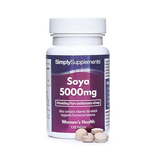 Isoflavoni di soia 5000 mg - 120 compresse - Adatto ai vegani - 4 mesi di trattamento - SimplySupplements