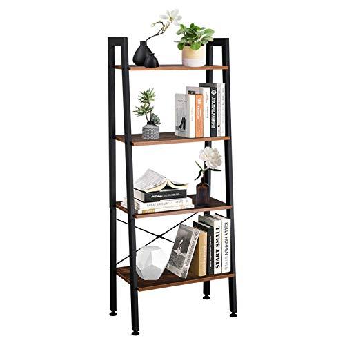 Estantería de 4 niveles, estantería de almacenamiento vintage para oficina, cuarto de baño, salón