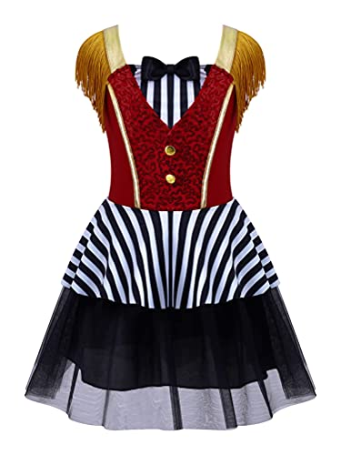 NC Cosplay, Disfraz de Maestro de Ceremonias de Circo para nias, Disfraz de Halloween, Carnaval, espectculo mgico, Vestido tut sin Mangas con Borla Vintage