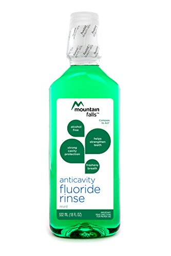 Mountain Falls Anticavity Fluoride Rinse, Mint, Compare to ACT, 18 Fluid Ounce