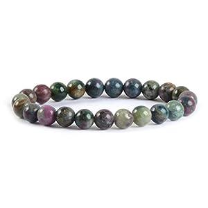 Natural Ruby Fuchsite Gemstone 8mm Round Beads Stretch Bracelet 7 Inch Unisex