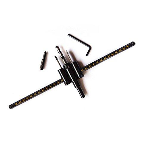 ZuoLan 1 Set HSS-Stahl 30-300 mm verstellbar Kreis Lochsäge Holzschneider Bohrer