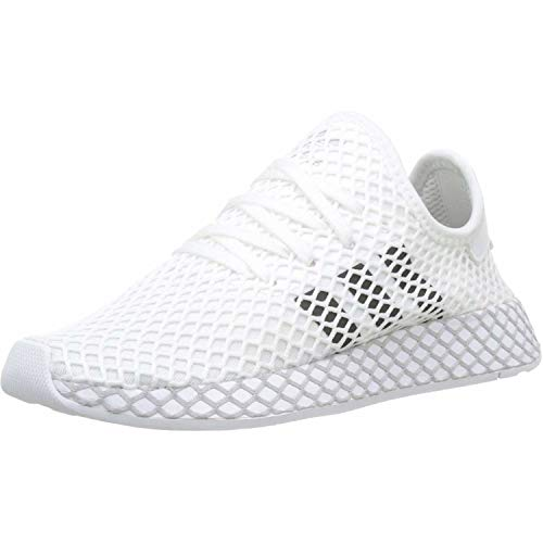Adidas Unisex-Erwachsene Deerupt Runner J Fitnessschuhe, Weiß(ftwr white/core black/GREY TWO F17), 38 EU(5 UK)