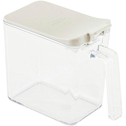 b2c スパイスコンテナ(ホワイト) サラサデザイン 調味料入れ 小麦粉 砂糖 塩 入れ おしゃれ スリム