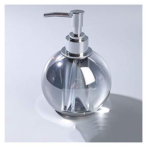 WLP-WF Dispensador de Jabón de Cristal de Alta Calidad, Aceite Esencial de Gel de Ducha Embotellado, para Baño, Sala de Estar, Botella de Loción, Ámbar (Color: Ámbar),Gris de Alto Grado