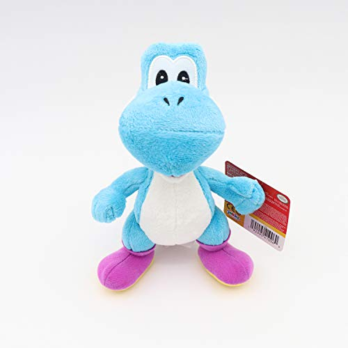 Jakks Pacific 41006, Nintendo Yoshi Plüsch, stehend, blau, 20 cm