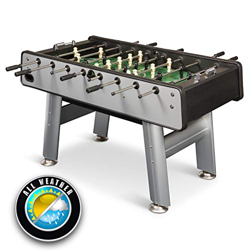 EastPoint Sports 87 Inch Outdoor Aluminum Billiard Table - Features Weather-Resistant Material, Rubber Bumpers, and Complete with All Accessories
