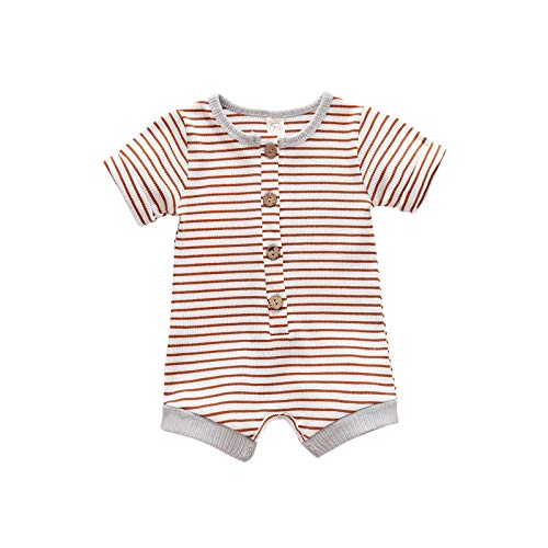 Pistazie Pijama para bebé - Mono de algodón para niño o niña, de manga larga marrón Small