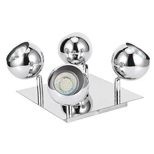 CHENGGONG Aplique de Pared LED, Foco Duradero MR16 de 12 W, Montaje Empotrado para baño, Cocina, Dormitorio, Sala de Estar, Comedor