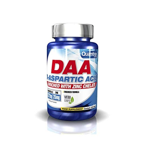 Quamtrax DAA D-Aspartic Acid - 120 cápsulas