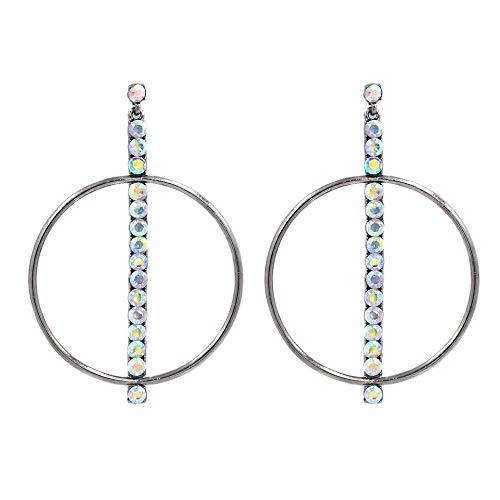 TIANYOU Novedad Joyas-Mujeres Pendientes Pendientes Pendientes Pendientes de gota Ear Line, Europa y los Estados Unidos Pendientes de diamantes de metal exagerados simples Accesorio