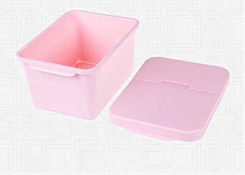 asentechuk® 4L qualité alimentaire Matériau empilable à clapet hermétique Seau à grains Boîte de rangement cuisine fournitures rose