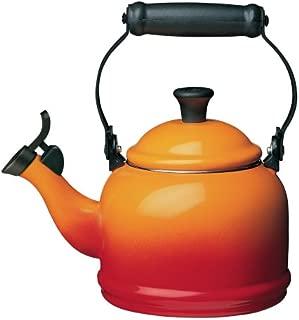 Le Creuset Q9401-2 Enamel-on-Steel Demi 1-1/4-Quart Teakettle, Flame