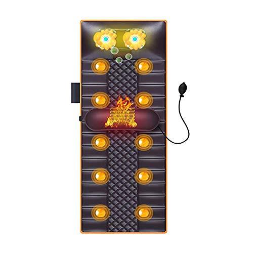 Colchoneta de Masaje con vibración, masajeador con Calor, 10 Motores de vibración para Hombros, Espalda, lumbares, Muslos/piernas (marrón)