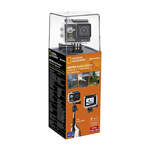 National Geographic Deutschland 9683001 Motion Action Camera WIFI - Videocámara Tarjeta de Memoria