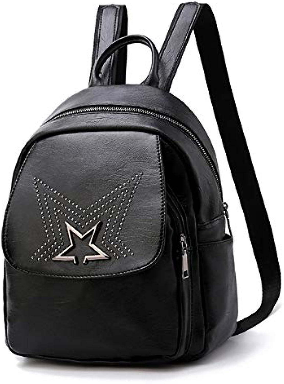 ASHIJIN Womens Backpack Backpack Backpack Rivets Bags for Teen Girls Headphones