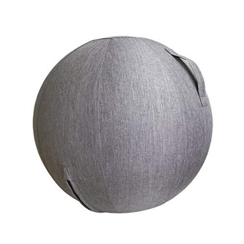 T TOOYFUL Stoff Cover Bezug, Yoga Ball Abdeckung für Gymnastikball, Fitnessball, Sitzball, Büroball, Balanceball, Yogaball - 65cm